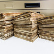 Stock Photo: Old paper placed vertically