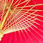 Thailand, Chiang Mai, hand painted red Thai umbrellas . — 图库照片