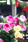 Beautiful rose fake flower — 图库照片