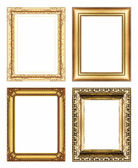 Vintage golden frame with blank space, with clipping path — Stockfoto