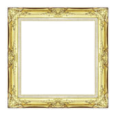 Vintage golden frame with blank space, with clipping path — Stock Photo