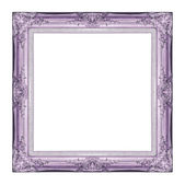Vintage purple frame with blank space, with clipping path — Stock Photo
