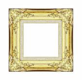 старинная золотая рамка с пустым пространством, с траекторией — Стоковое фото