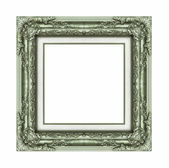 Vintage green frame with blank space and clipping path — Stock Photo