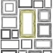 Set of Vintage golden frame and gray frame with blank space — Stock Photo