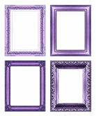 Set of Vintage purple frame with blank space and clipping path — Stock fotografie