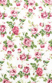 Rose Fabric background, Fragment of colorful retro tapestry text — Stock Photo