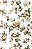 玫瑰织物背景,绚丽多彩的复古织锦文本片段 — 图库照片