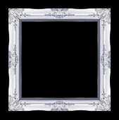 Vintage white frame with blank space, with clipping path — Stock Photo