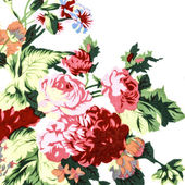 Rose Red Fabric background, Fragment of colorful retro tapestry — Stock Photo