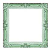 Marco verde vintage con espacio en blanco, con trazado de recorte — Foto de Stock