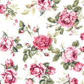 Red Rose Fabric background, Fragment of colorful retro tapestry — Stock Photo