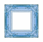 Vintage blue frame with blank space, with clipping path — Foto Stock