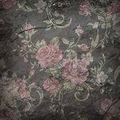 Rose wallpaper on stone background  , Grunge design — Stock Photo