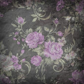 Rose wallpaper on stone background  , Grunge design — Foto Stock