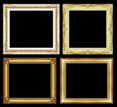 Set of Vintage golden frame with blank space and clipping path, — Stockfoto