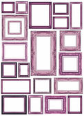 Set of vintage pink frame with blank space — Stock Photo