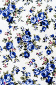 Blue Rose Fabric Background, Fragment of colorful retro tapestry text — Stock Photo