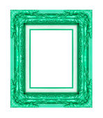 Vintage green frame with blank space, with clipping path — Stock Photo