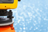 The total station, The geodetic and topography measuring tool, c — Stock Photo