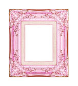 Vintage pink frame with blank space on white background , with c — Photo