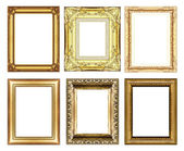 Set of vintage golden frame with blank space — Stock Photo