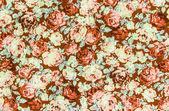 棕色的玫瑰织物背景,多彩的复古 tapestr 片段 — 图库照片