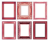 Set of vintage red frame with blank space   — Stock Photo