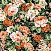Orange rose on black fabric background, Fragment of colorful ret — Stock Photo