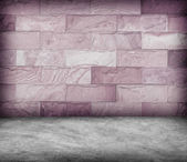 Sand stone wall and concrete  floor texture , Grunge design — Foto Stock
