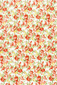 Oranje vintage op witte stof achtergrond, fragment van kleurrijke — Stockfoto