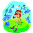Little fairy on the lawn — Stock Vector #26024525
