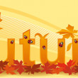 Banner for seasons autumn — Stock Vector