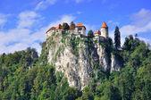 古いお城でブレッド、スロベニア — ストック写真