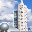 Skyscapper round shape building in Tartu — Stock Photo #25881985