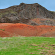 Stock Photo: Icelandic landscape: orange and green