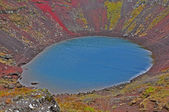 Kerid volcano: red ground — Stock Photo