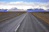 アイスランドの道 — ストック写真