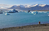 Blue icelandic gracier — Stock Photo