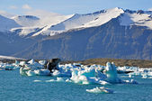 Blue Glacier Lagoon — Stock Photo