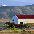 Stock Photo: Farm in Iceland on sunset