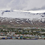 Akureyri city — Stock Photo