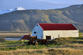 Farm in Iceland on sunset — Stock Photo