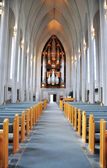 Reykjavik Church interior — Stock Photo