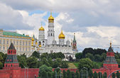 Moscow Kremlin and cathedral — Stock Photo