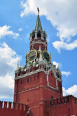 Spasskaya tower on the Red Square — Stock Photo