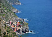 Vernazza village seascape — Stock Photo