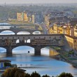 Bridges of Florence on sunset — Stock Photo #27634303