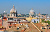 Domes and roofs of Rome — Stock Photo