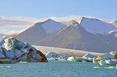 Icelandic gracier lagoon — Stock Photo
